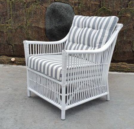 Columbus Single Chair White The Golden Rattan