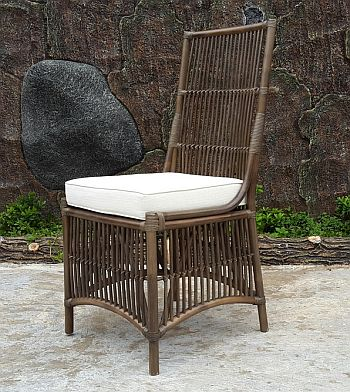 Columbus Side Dining Chair, Olive Green Stain