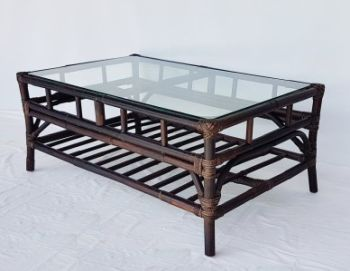 Eva Glass Top Coffee Table