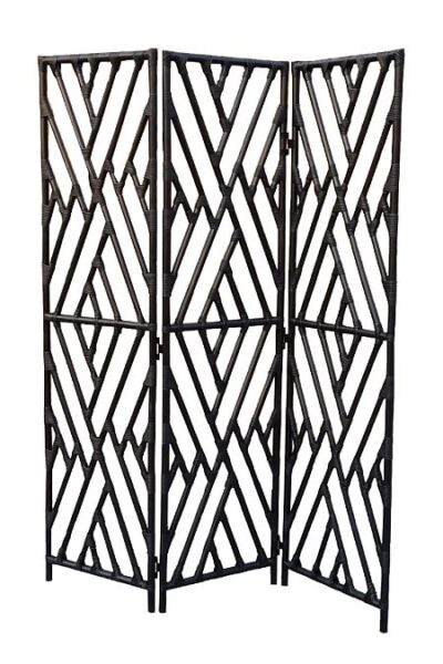 Chippendale 3 Panel Screen, Black or White