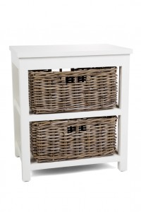 Kubu Grey Storage 2 Drawer Basket