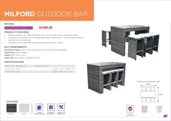 Milford Outdoor Bar
