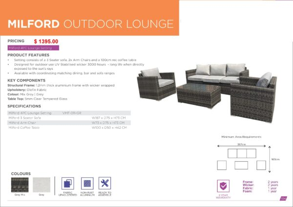 Milford Outdoor Lounge