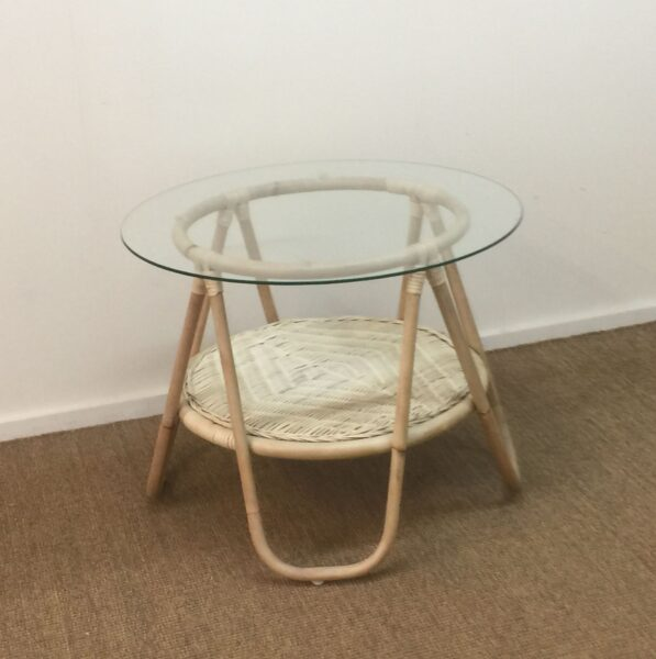 Round Glass Side Table
