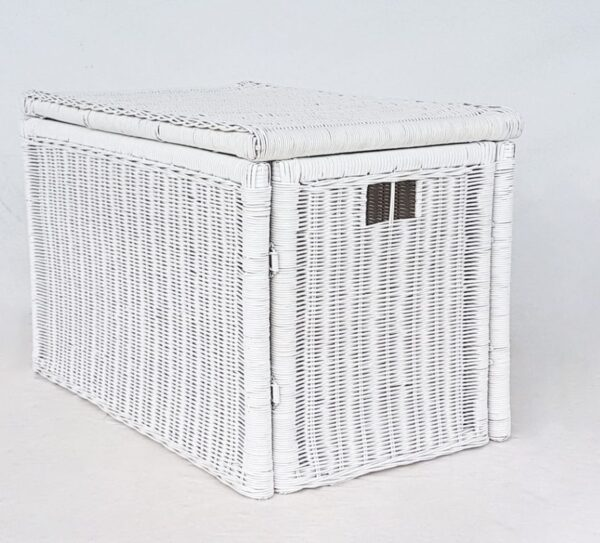Folding Trunk, White, with Lining