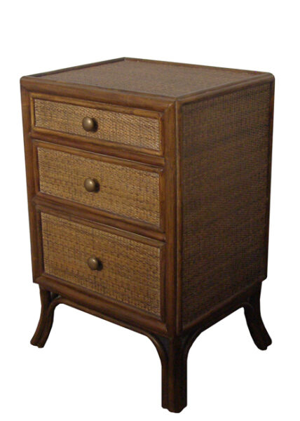 Boston 3 Drawer Bedside Table
