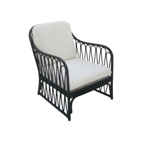 Antigua Arm Chair, Black
